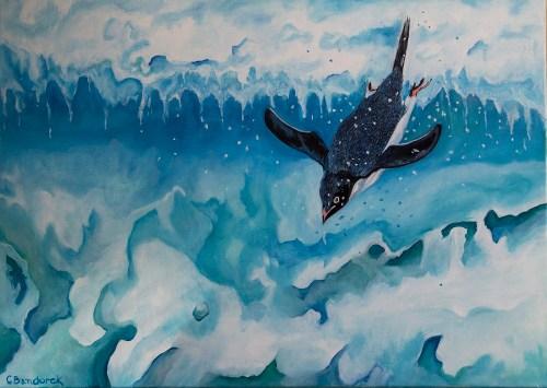 Penguin- Oil painting. Cynthia Bandurek