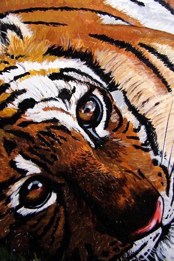 Tiger - Acrylic painting - Cynthia Bandurek