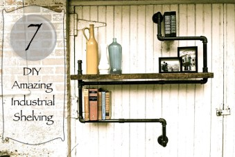 7 Amazing DIY Industrial Shelving