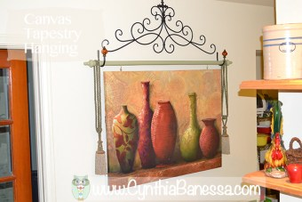 How to hang a Canvas Painting Like a Tapestry