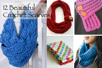 12 Beautiful Crochet Scarves and Cowls