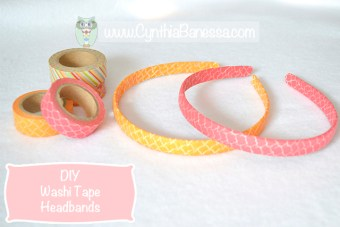 Washi Tape Headbands
