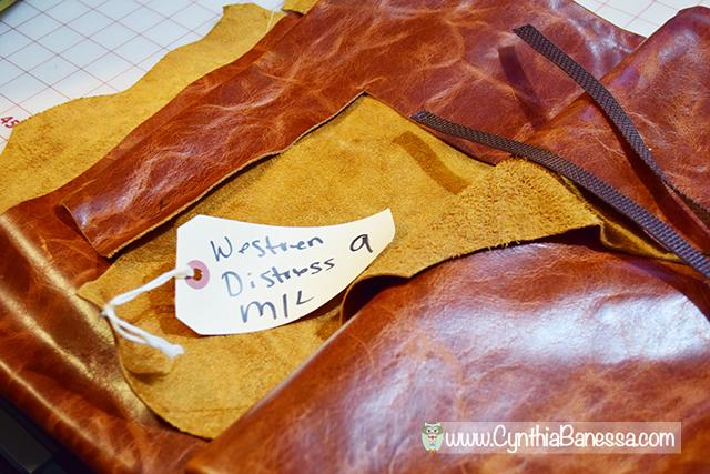 distress leather