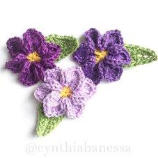 six-petal-crochet-flower