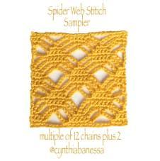 Spider Web Crochet Stitch Sampler