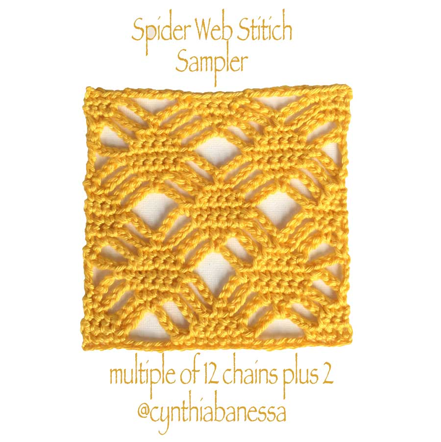 spider web crochet stitch