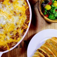 Baked Spaghetti Casserole with Turkey Meat