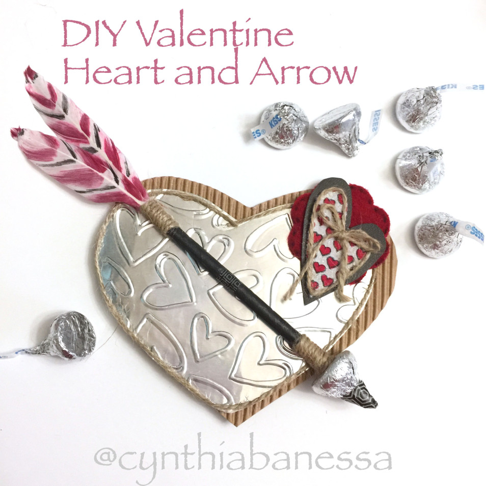 DIY Heart Valentine Arrow