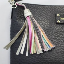 DIY Leather Fringe Keychain