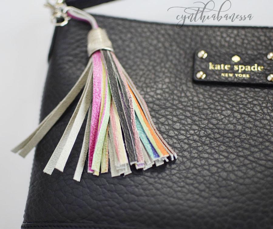 DIY Leather Fringe Keychain