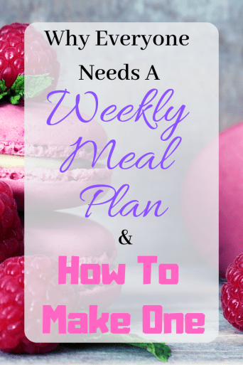 Why Everyone Needs A Weekly Meal Plan & How To Make One | Living intentionally means creating and using a weekly meal plan. No only can you keep yourself on a budget, but you can also use a weekly meal plan for weight loss. Click through to read more.