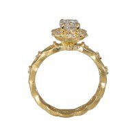 Kelsey Floral Yellow Gold Engagement Ring | Cynthia Britt