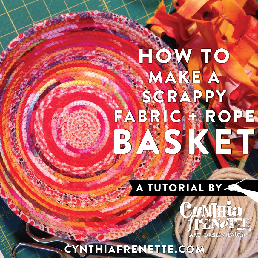 All New Tutorial How To Make A Sewn Fabric Rope Basket