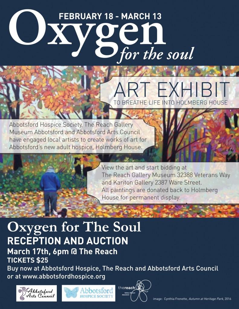 O2 Art Exhibit poster