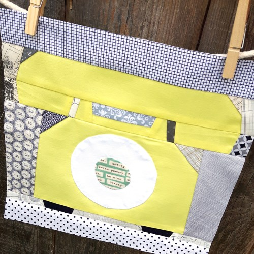 Free pattern Ring Ring! Paper Pieced Quilt Block