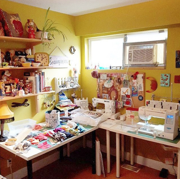 sewing room cleanup