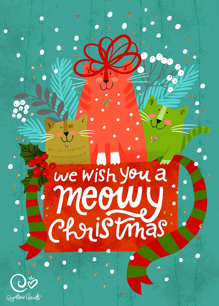 Meowy Christmas.Meowy Christmas Cynthia Frenette