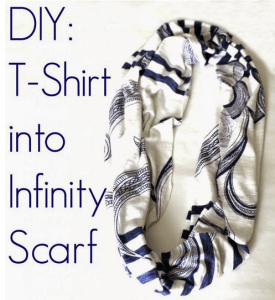 DIY: T-Shirt into Infinity Scarf