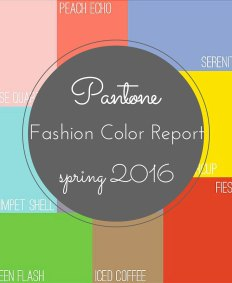 Pantone Fashion Color Report 2016