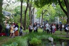 View of public in the garden. Photo: Jin Kim