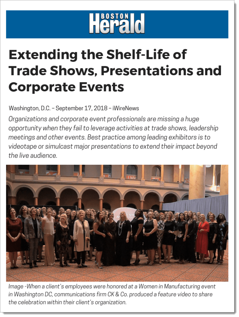 Extending the Shelf-Life of Trade Shows, Presentations and Corporate Events