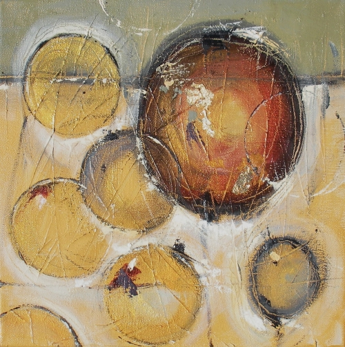 Verge of Silence 12″ x 12″ Abstract Oil Painting