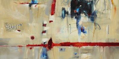 2039 40x40 Abstract Oil Painting