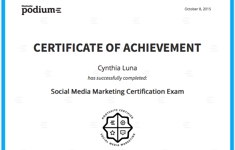 740901f792e Social Sunday! It s official  I m Social Media Marketing Certified ...