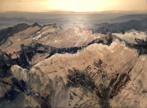 """Ridgelines"", 40"" x 52"", oil on aluminum, $3800"