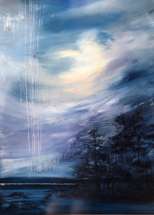 """Weeping Sky"", oil on aluminum, 39"" x 51"", $6900"
