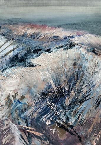 """Blue Horizon"", oil on aluminum, 19"" x 15"" $900"