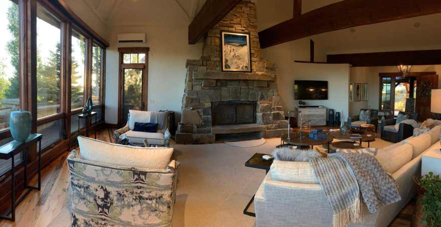 Above the Clouds installed in this beautiful mountain home.