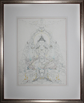 pewter frame on drawing