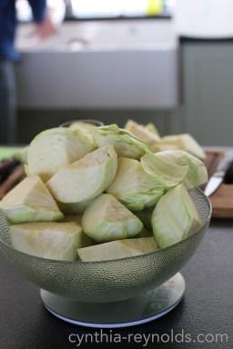 weigh cabbage