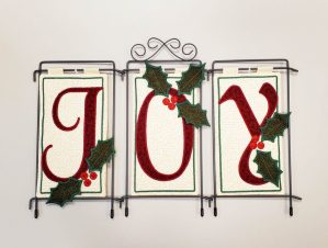 """#555 Embroidered """"Joy"""" with Kelly"""