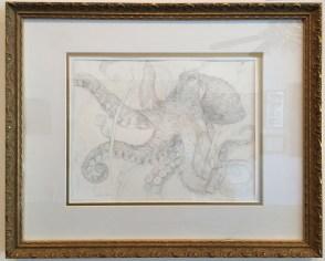 Octopus #2 Medium: Silverpoint