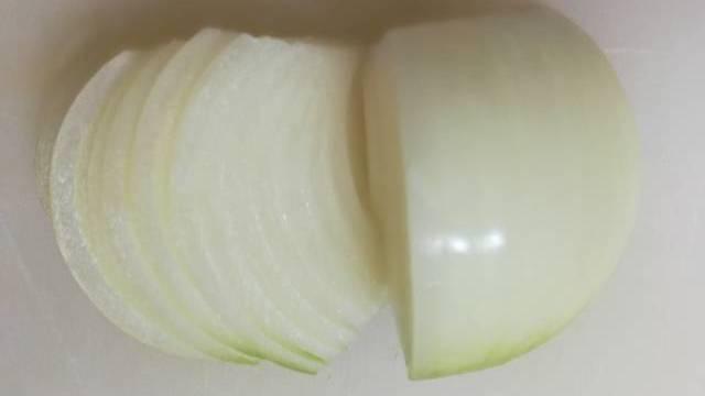玉ねぎのスライス