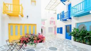 カラフルな住宅