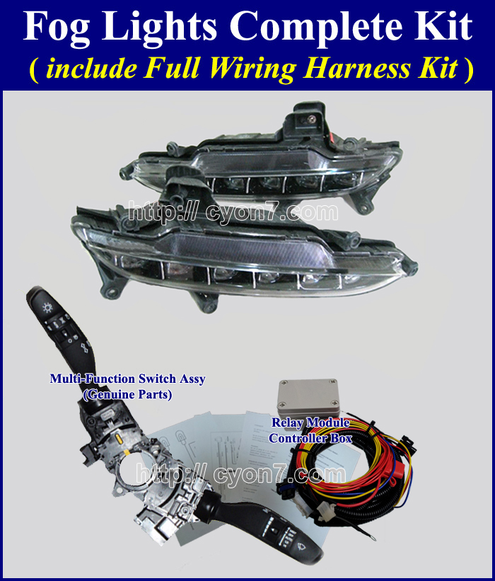 Genesis Coupe Fog Lights Wiring Diagram Complete Kitfull Wiring