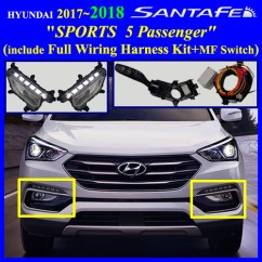 Hyundai Accent Wiring Diagram 110v Plug 2017+ Santa Fe Sports 5 Passenger Fog Light Lamp Complete Kit,wiring Harness+mf Switch ...