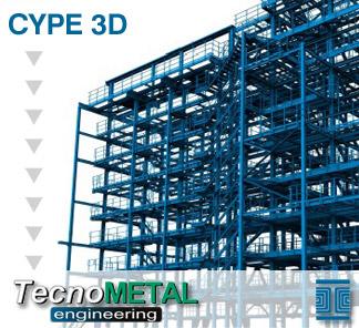 Exportación a TecnoMETAL® 4D de Nuevo Metal 3D y de las Estructuras 3D integradas de CYPECAD