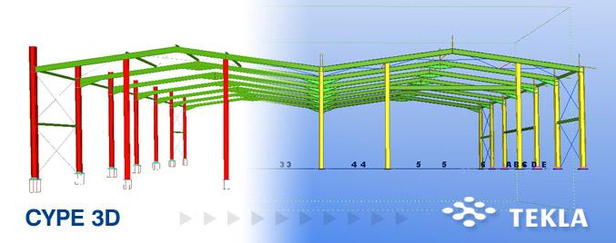 Exportación a TEKLA® Structures de las estructuras 3D integradas de CYPECAD® y Nuevo Metal 3D®