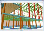 CYPECAD. Vista 3D de forjados unidireccionales con viguetas Joist y viguetas pretensadas