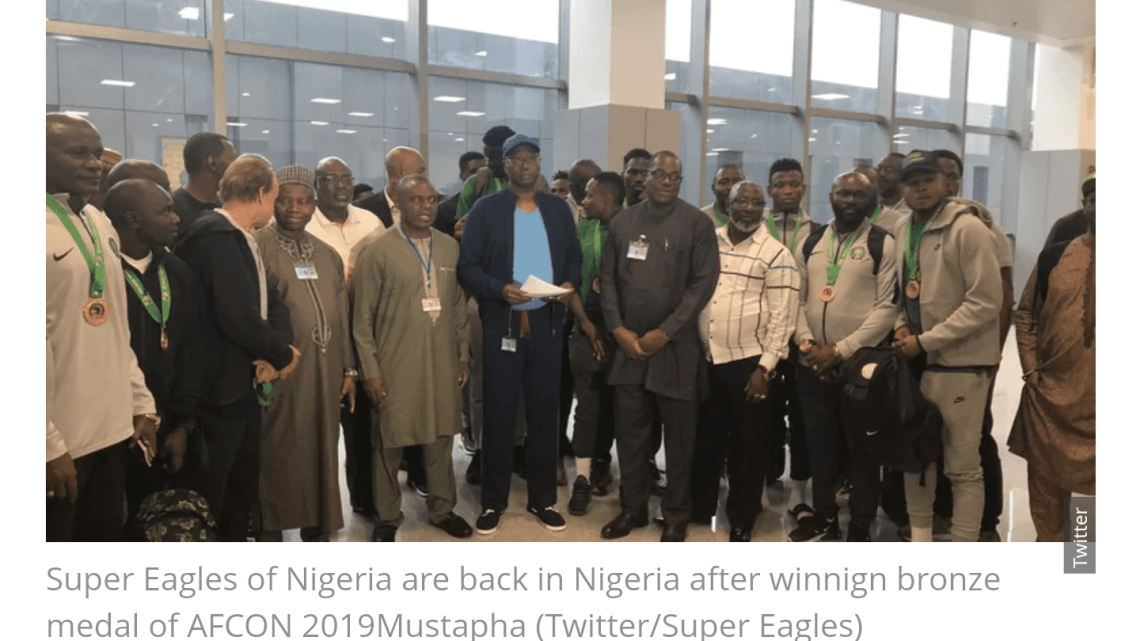 CYPHER9JA.COM Screenshot_20190720-0131162 Super Eagles arrive in Abuja from Egypt after AFCON 2019 campaign SPORT