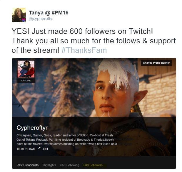 600 Twitch followers
