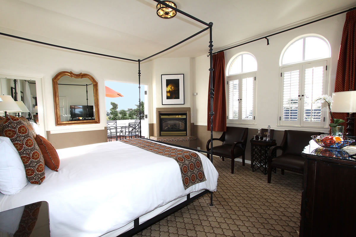 Fireplace In French Carmel Hotel Rooms & Rates | Cypress Inn - Carmel By The