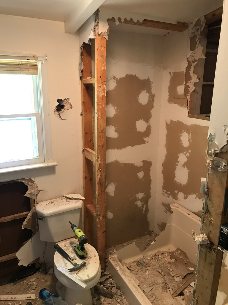 This will eventually be a shower.