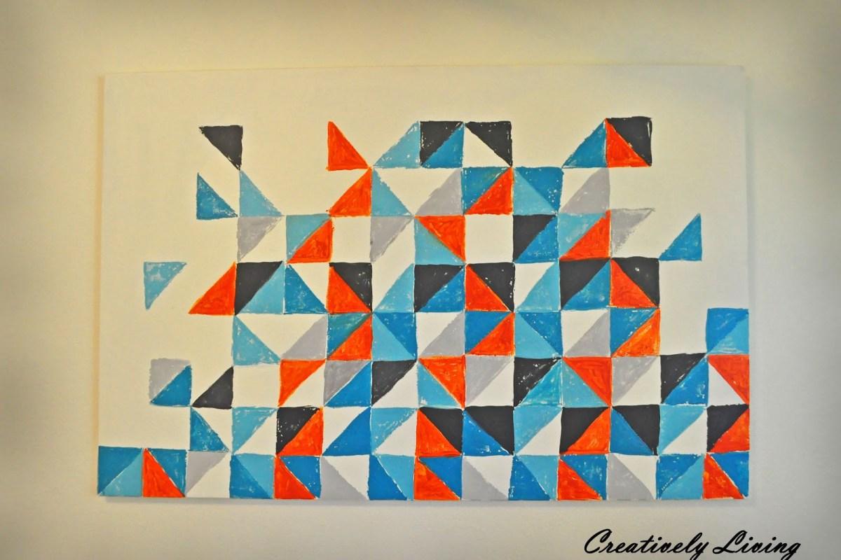 Square and Triangle Geometric Art