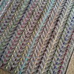 Threaded Colors Chevron Crochet Blanket Pattern
