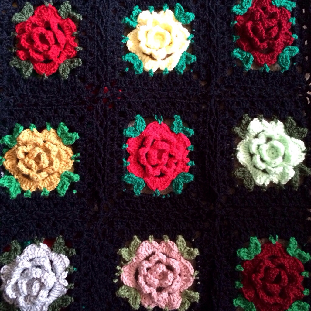English Rose Granny Square: Free Pattern - cypress textiles